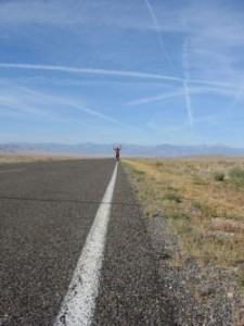 Marshall Ulrich during his run across America. (Courtesy of Marshall Ulrich.)