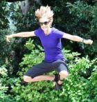 Devon Crosby-Helms practicing her Ninja moves.