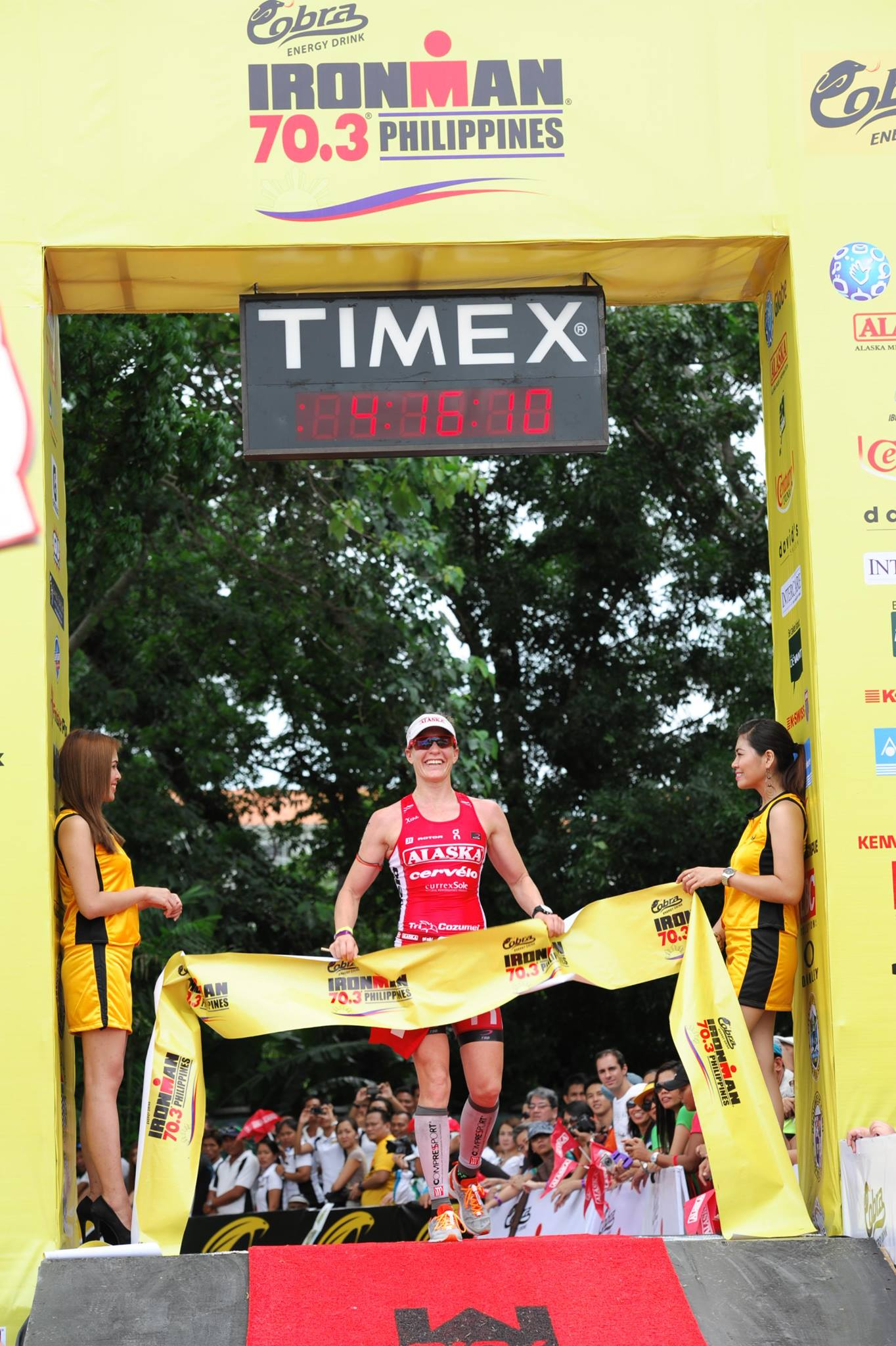 Caroline Steffen Finish Line